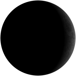 Bulan Sabit Muda atau Waxing Crescent Moon.