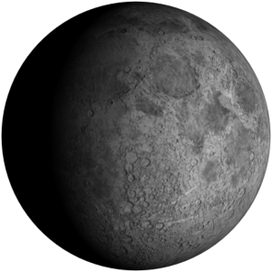 Bulan Benjol Awal atau Waxing Gobbous Moon.