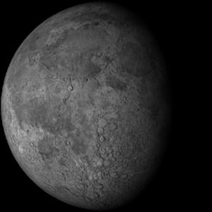 Bulan Benjol Tua atau Waning Gibbous Moon.
