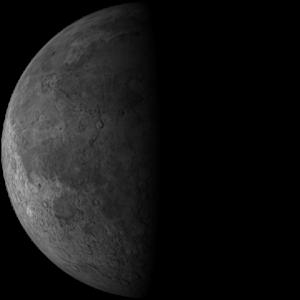 Bulan Perbani Akhir atau Last Quarter Moon.