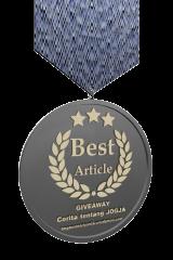 Award untuk Artikel Terbaik.
