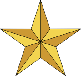 "Gambar ""Bintang"" bermakna ""Ketuhanan Yang Maha Esa""."