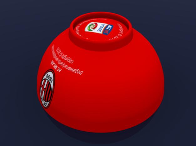 """Pose """"Gaya Bebas"""" dimana mangkok terlihat terjatuh atau mungkin dia tertidur :). Posisi ini menggambarkan bahwa AC Milan pada musim ini kurang bagus performanya. Kita nantikan apakah mereka bisa bangkit atau tidak."""