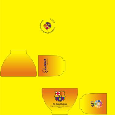 "Material map cangkir ""Away"" FC Barcelona."