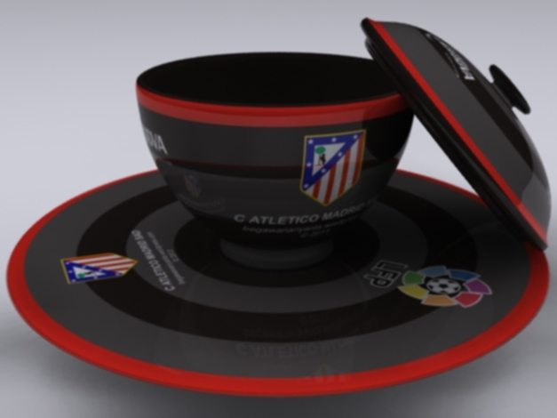 "Cangkir ""Away"" Atletico Madrid SAD."