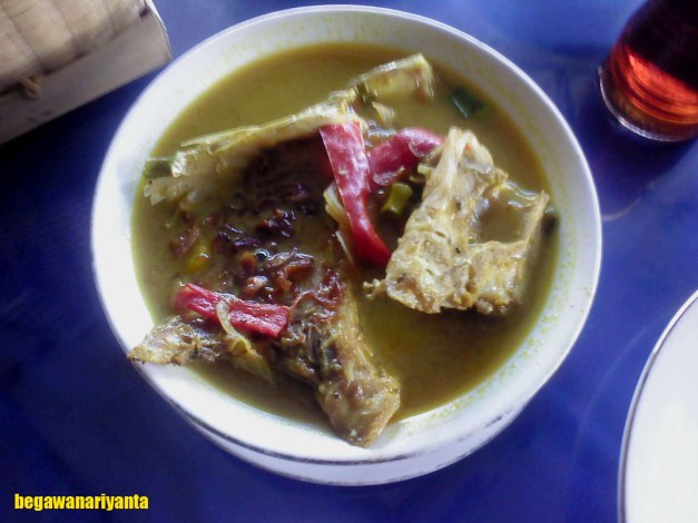 Pallumara, Celebes traditional food. Location: Kota Kendari, Sulawesi, Tenggara, Indonesia.