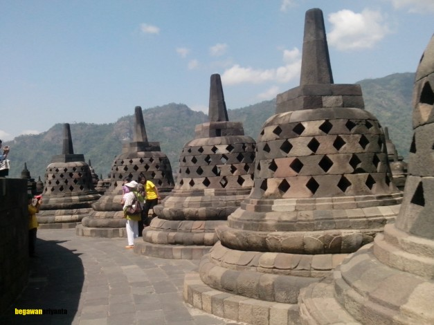 1st stage arupadathu in borobudur temple, Magelang, Central Java, Indonesia.