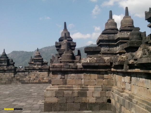 3rd stage rupadhatu in borobudur temple, Magelang, Central Java, Indonesia