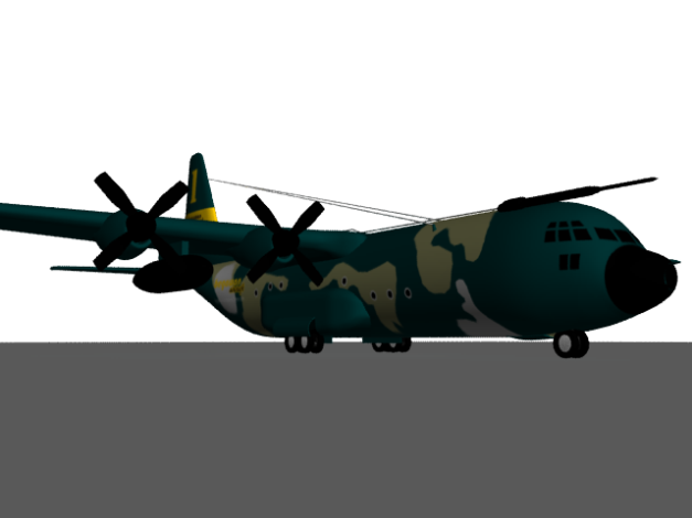 hercules C130 'begawan aircraft'