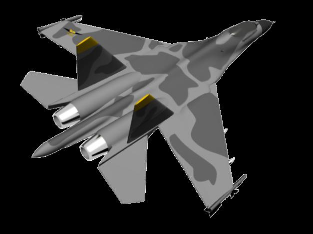 Su-27 Flanker 'begawan aircraft