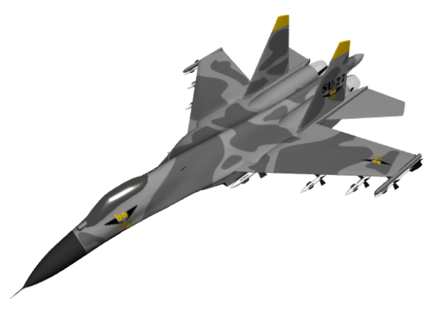 Su-27 Flanker 'begawan aircraft'